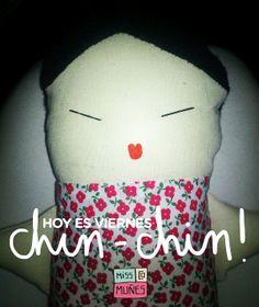Fabric Doll from MissComuñes http://facebook.com/misscomunes