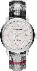Burberry Silver Dial Stainless Steel Textile Quartz Men's Watch BU10002
