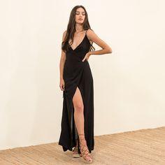 Strappy voile crossover dress #MYSbasic