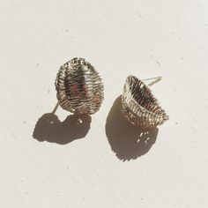 Sterling Silver Creel Studs enjoying a moment  in the sunny studio today.