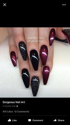 Deep reds and blacks