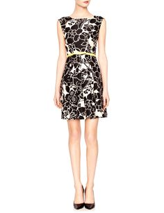 Belted Floral Dress   Women's Dresses   THE LIMITED  #thelimited  #black