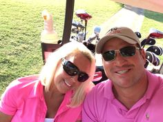 Me and hubby golfing