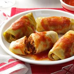 Meatball Cabbage Rolls Recipe from Taste of Home -- shared by Betty Buckmaster of Muskogee, Oklahoma