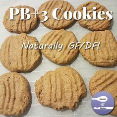 Four ingredients: peanut butter, sugar, eggs, vanilla. Four steps: mix, scoop, bake, enjoy!