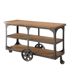 Wood & Metal Console Table