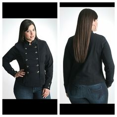 Lane Bryant blk army jacket- need this in my life