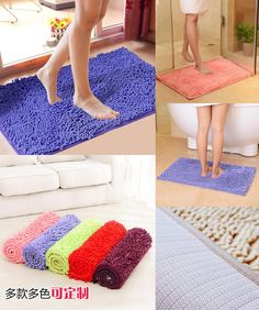 [Visit to Buy] High Level Chenille Non-slip Large Bathroom Rugs 15 Solid Colors Bathroom Rugs Bathroom Carpet 1pc Rugs And Carpets For Bathroom #Advertisement