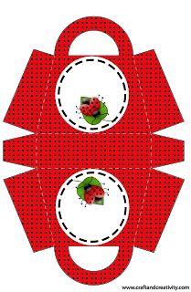 Ladybug Party, Ladybug Crafts, Paper Box Template, Diy And Crafts, Paper Crafts, Printable Box, Printables, How To Make Box, Lady Bug