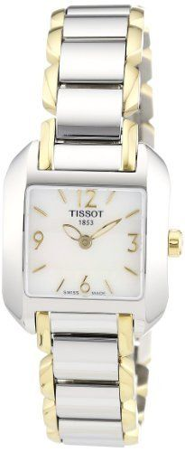Tissot Women's T02228582 T-Wave Two-Tone Bracelet Watch Tissot. $325.00. Quartz movement. Antireflective sapphire crystal. Case diameter: 23 mm. Two-tone-stainless-steel case. Water-resistant to 99 feet (30 M)