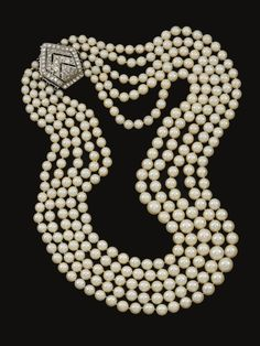 Cultured pearl and diamond necklace | Lot | Sotheby's