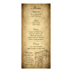 1000 images about program ideas on pinterest rome passport invitations and vintage save the for Roman menu template