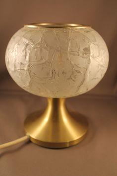 70er Jahre Tischlampe Lampe Alu Tulpenfuß DORIA 70s vintage table or night lamp