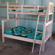 Amish Rustic Pine Twin Over Full Bunk Bed