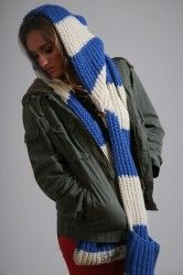 Sheebies from Zaini hats.Beautiful chunky hand knitted luxury scarf  £99.00