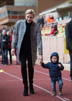 Princess Charlene, Prince Albert and Prince Jacques atttend Rugby Tournament