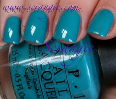 OPI...only nail polish I use...don't see me in blue though...