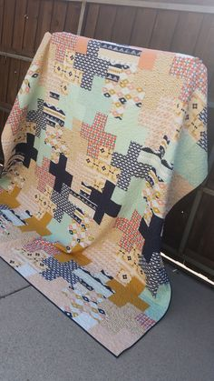 King sized plus quilt in April Rhodes Arizona fabric - by HappinessInTheMaking