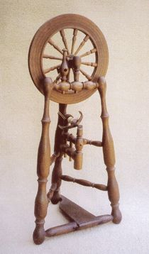 Spinning Wheel Sleuth - newsletter about spinning wheels and related tools. Met Florence Feldman-Wood at spinning GTG in Concord, 8/22/15.