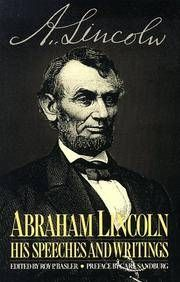 Abraham Lincoln By Roy P Basler Ed Paperback Reprint