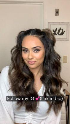 Easy Hairstyles For Long Hair, Spring Hairstyles, Curled Hairstyles, Straight Hairstyles, Girl Hairstyles, Beach Hairstyles, Brunette Hairstyles, Cut My Hair, Hair Color For Black Hair