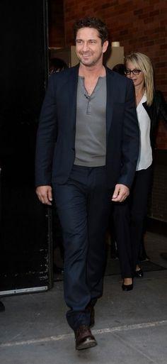 Gerard Butler in the Dagger Blazer & Skinny Chino