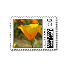 Delightful Spring Poppy Postage Stamp