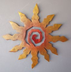Metal Sun Burst Southwest Art Wall Hanging Rusted with Accents XX Large 36 Inch
