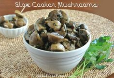 Slow Cooker Mushrooms Recipe - Vegan in the Freezer