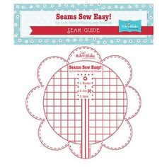 "Seams Sew Easy comes in green, aqua, pink or red! You will love this Seams Sew Easy Seam Guide that Lori Holt designed for sewing perfectly accurate 1/4"" seams. This Seam Guide temporarily adheres to"