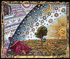 mysterious1888 Flammarion engraving from Camille Flammarion's L'Atmosphere: Meteorologie Populaire, #alchemy