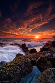 Burning Sunset - Port Fairy, Victoria, Australia