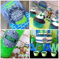 Cupcake Wishes & Birthday Dreams: {Sneak Peek} Teenage Mutant Ninja Turtle 5-Year Old Birthday Party