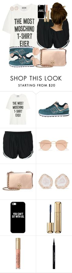 """""""FOOTBALL FRIDAY NIGHT"""" by racheld24 ❤ liked on Polyvore featuring Moschino, New Balance, NIKE, Ray-Ban, Tory Burch, Kimberly McDonald, Casetify, Guerlain and Givenchy"""