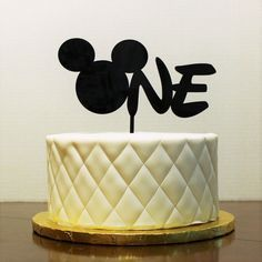 Mickey Mouse Cake Topper First Birthday One cake topper Mickey