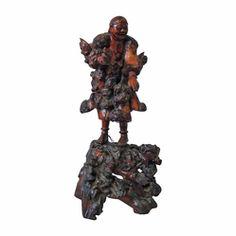 Sculpture of Daoist Immortal Liu Hai - Symbol of Wealth
