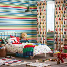 #GuessWho? #Fabrics packs in motifs from the best of a day out with the #kids.   abundance of #whimsical #animals, #bold #stripes, #playful #patterns and #funk #florals. #kidsroom #homedecoration #interior #curtains #cushions #wallpapers
