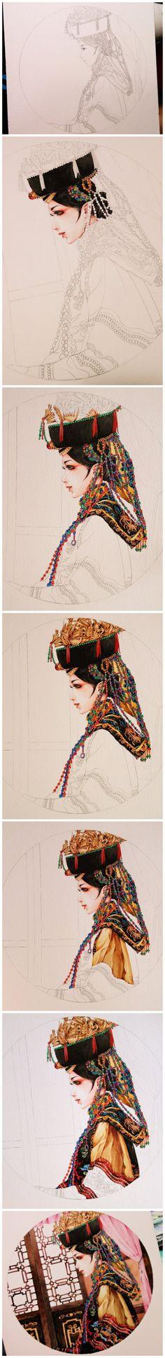 painting process, tutorial