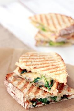 Marina's Panini: fig jam, pears, white cheddar, arugula.   Our panini bar was filled with winter ingredients: pears, avocados, prosciutto, sage, fig jam, arugula, onions, and white cheddar. In the summer I would use tomato, basil, zucchini...THIS LOOKS SO DELICIOUS