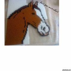 Horse hama beads by malouloute73