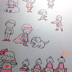 Rabiscando pessoinhas Drawing little people! pen stabilo cute fofo kidshellip