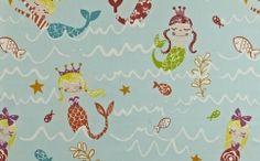 Draperie copii sirene 5720-604 MERMAID AQUA Aqua, Mermaid, Flooring, Interior, Design, Water, Indoor, Wood Flooring