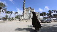 Die im Bürgerkrieg 1989 zerstörte Kathedrale in der somalischen Hauptstadt Mogadischu