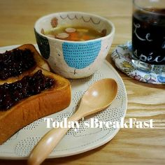 Instagram media by dakotantan - * * * 2015*5*22*Fri.  おはようさんです。  今朝はこの前、食べて美味しかった あんバタートースト アイスコーヒー 昨日作ってたのに洗い物してて 思い出したコンソメスープ( ̄△ ̄) (揚げ物するのに鍋をよけてた)  ごちそうさまでした…。 早い~もう金曜日や…  #朝ごパン#朝ごはん#朝食 #breakfast#bread #あんバタートースト #暮らし#食卓#onthetable#陶器#器#うつわ#ceramics#pottery#instapic#instaphoto#instagood#instafood#food#foodpic#foodphoto#foodstagram #佐藤尚理#ボノホ #この組み合わせ変? #佐藤さんの器が可愛すぎるー #あんバタートーストは愛知組の影響