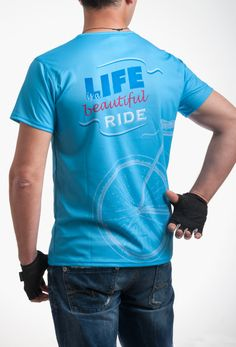 Beautiful Ride T-Shirt - Cycling T-shirts, Reflective Stickers, Scarfs and more for your bicycle Cycling T Shirts, Break A Sweat, Sport T Shirt, Colorful Shirts, Sportswear, Im Not Perfect, Scarfs, Tees, Casual