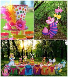 Alice in Wonderland + Mad Hatter themed birthday party via Kara's Party Ideas KarasPartyIdeas.com Printables, cake, decor, recipes, tutorial...