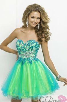 Such a sexy high low neon pink prom dress! Tony Bowls Le Gala ...