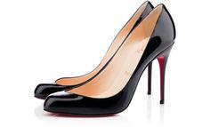 #Christian Louboutin MAUDISSIMA 100 mm, Cuir vernis, noir, escarpins pour femme