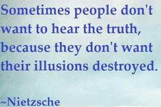 Apparently denial is a better residence than reality in one's mind. TRUTH.