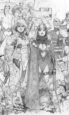 Rogue and Gambit, Olivier Coipel, Age of X splash. Comic Book Pages, Comic Book Artists, Comic Book Characters, Comic Artist, Comic Character, Comic Books Art, Character Design, Gambit X Men, Rogue Gambit